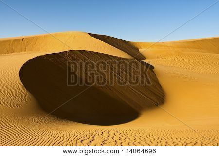 Desert landscape of Fezzan, Libya