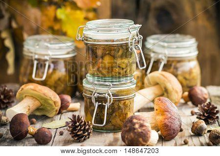 Autumn Harvest Forest Preparation Pickled Mushrooms