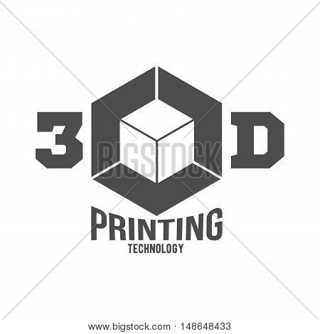 3D printer vector icons logotypes badges and design elements