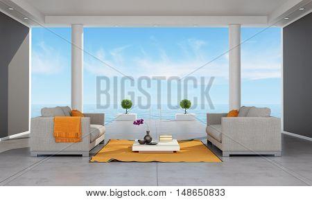 Interior Of A Modern Holiday Villa