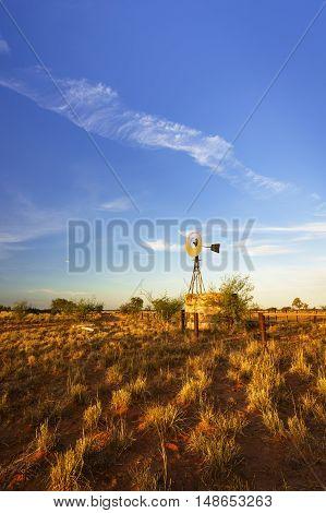 Windmill in Australian outback - Pilbara region Western Australia