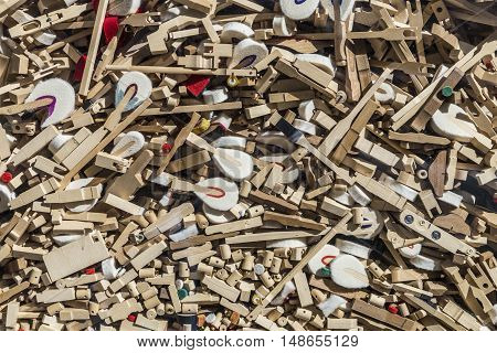 Mixture Of Different Piano Spare Parts