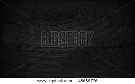 Wood Texture Black Background. Blank For Design