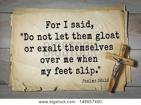 TOP-1000.  Bible verses from Psalms. For I said,