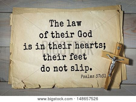 TOP-1000.  Bible verses from Psalms. The law of their God is in their hearts; their feet do not slip.