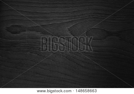 Wood Black Background Texture High Quality Closeup. May Be Used For Design As Background. Copy Space