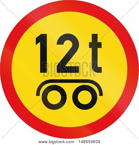 Temporary Road Sign Used In The African Country Of Botswana - Vehicles Exceeding 12 Tonnes On A Tand