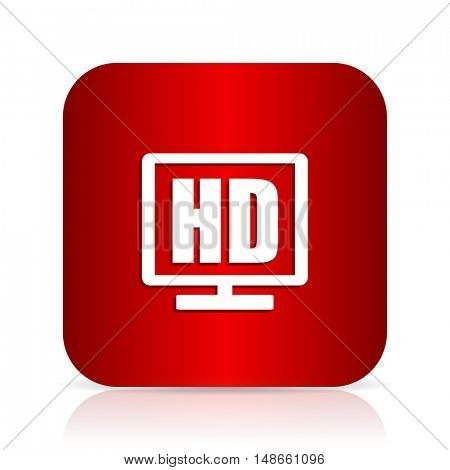 hd display red square modern design icon