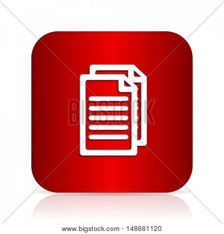 document red square modern design icon