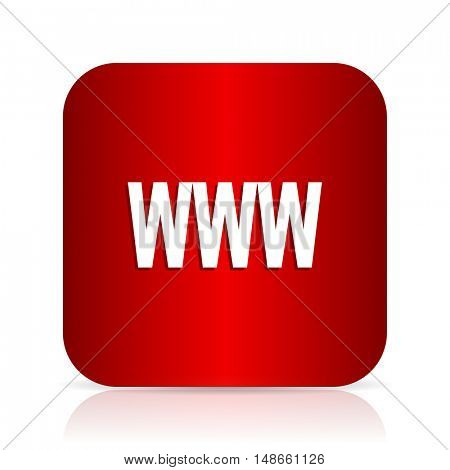 www red square modern design icon