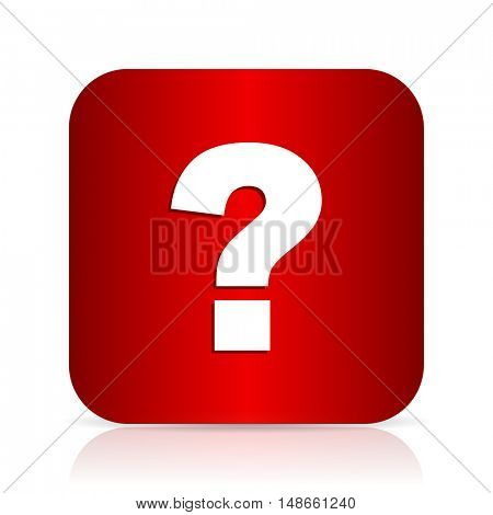 question mark red square modern design icon