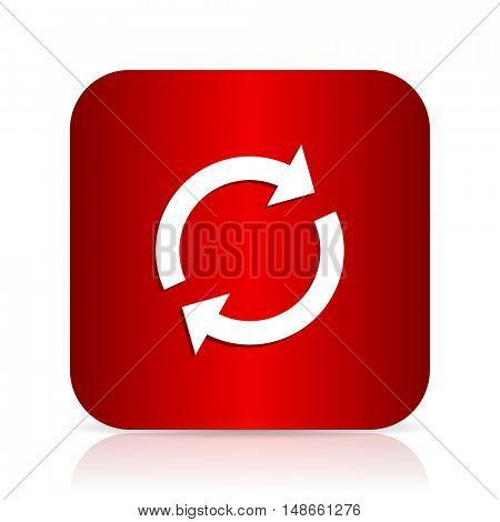 reload red square modern design icon