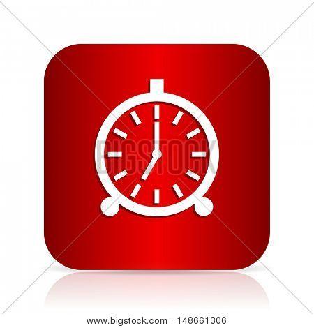 alarm red square modern design icon