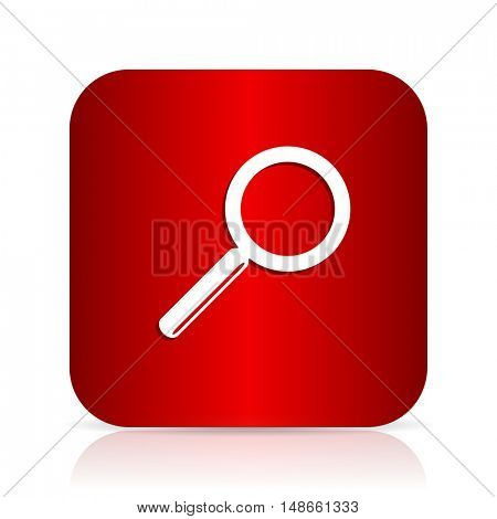 search red square modern design icon