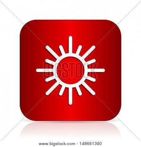 sun red square modern design icon