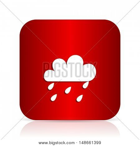 rain red square modern design icon