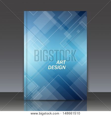 Abstract composition a4 brochure title sheet crystal facets icon business card image rhombus logo texture turquoise construction firm sign backdrop cosmic surface EPS 10 vector illustration