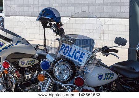 York City Police Department white patrol motorcycles
