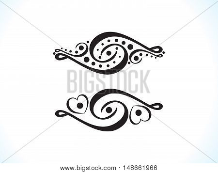abstract artistic black multiple floral vector illustration