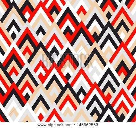 Seamless pattern rhombus style. Colorful abstract background. Fashion ornament. Vector illustration.