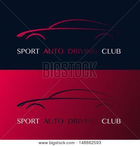 Sport auto driving club design logo. Vector illustration.