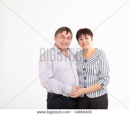 a happy senior couple in love