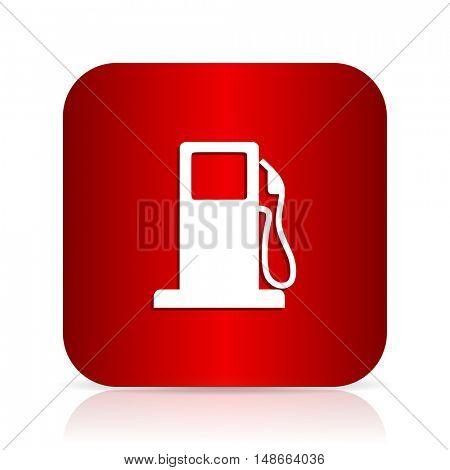 petrol red square modern design icon