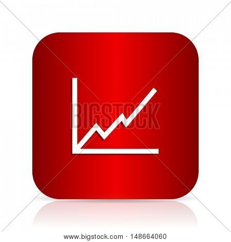 chart red square modern design icon