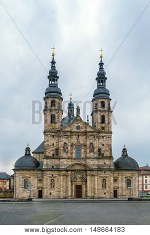 Fulda cathedral constitutes the high point of the Baroque district of Fulda and is a symbol of the town Germany