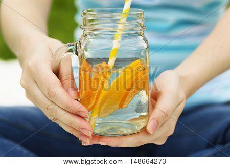 Fruit Lemonade In Jar