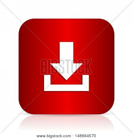 download red square modern design icon
