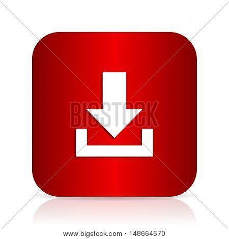 download red square modern design icon