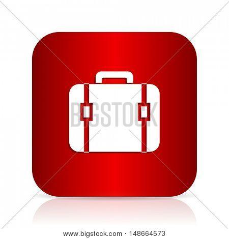 bag red square modern design icon