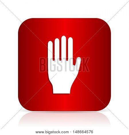 stop red square modern design icon