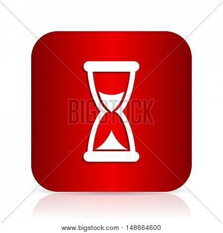 time red square modern design icon