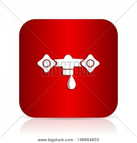 water red square modern design icon