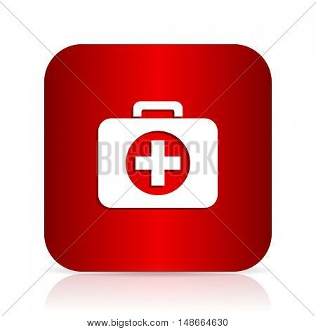 first aid red square modern design icon