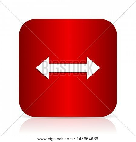 arrow red square modern design icon