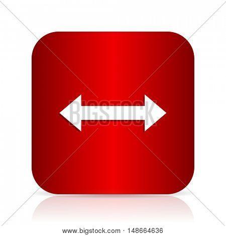 arrow red square modern design icon