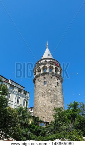 Galata Tower Taken In Istanbul, Turkey