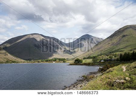 Wasdale wastwater Lake District England Mountain scafell