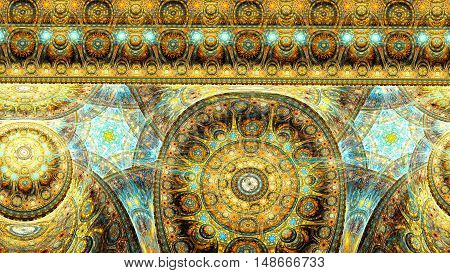Living cells of extraterrestrial life. 3D surreal illustration. Sacred geometry. Mysterious psychedelic relaxation pattern. Fractal abstract texture. Digital artwork graphic astrology magic