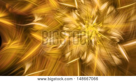 Rotating bright fireworks. 3D surreal illustration. Sacred geometry. Mysterious psychedelic relaxation pattern. Fractal abstract texture. Digital artwork graphic astrology magic
