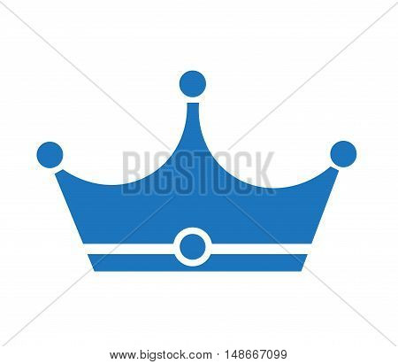 blue crown icon crown icon on white background