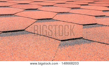 Selective Focus Background Of Red Paving Slabs