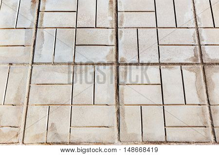 Urban Stone Paving. Texture, Background, Selective Focus