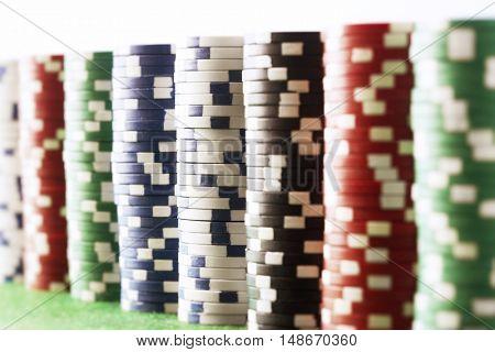 Stacks of Gambling Chips