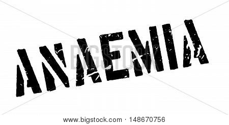 Anaemia Rubber Stamp