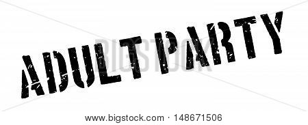 Adult Party Rubber Stamp