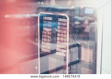 Coffee Vending Machine. Selling Coffee.